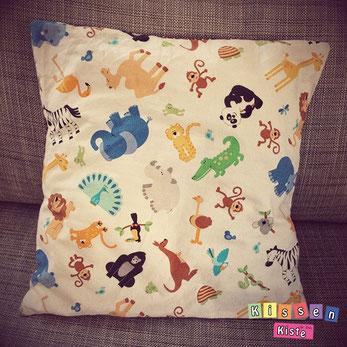 Kinderkissen mit Dschungel Tieren - by Kissenkiste
