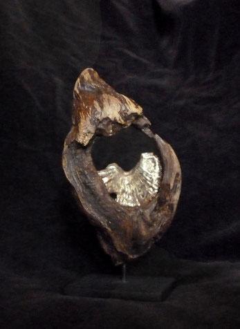 Miniature n°3 (dos) Feuilles d'or 18 carats