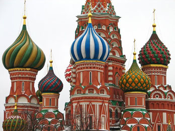 Zwiebeltürme der Basilius-Kathedrale in Moskau
