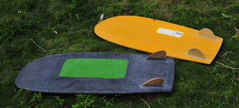 Minos and WuWei, mini simmons by elleciel custom surfboards