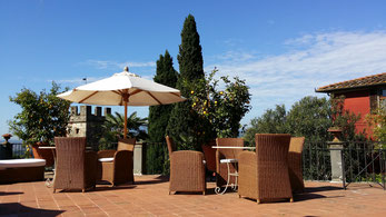 Terrasse der Villa Sermoli in Buggiano Castello (LU)
