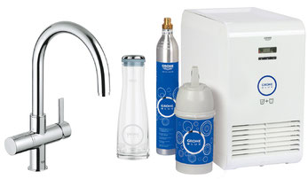 Text: Grohe Blue, Grohe Blue Pure Cool, Grohe Pure