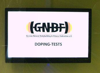 Strikte Dopingkontrollen sind fester Bestandteil der GNBF e. V. Deutschen Meisterschaft
