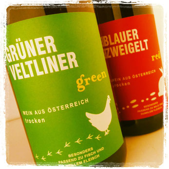 Grüner Veltliner - green & Blauer Zweigelt - red