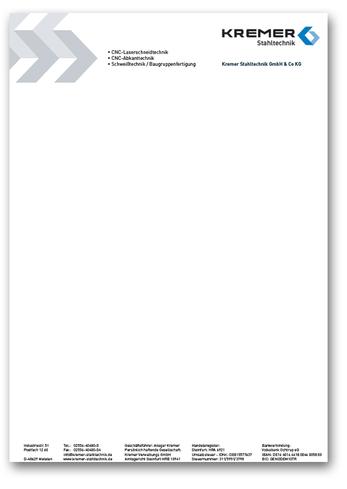 Briefbogen für Rechnungen und Angebote, Geschäftspapiere