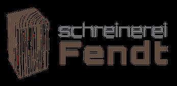 Logo der Schreinerei Fendt im Allgäu, Bauschreinerei, Möbelschreinerei, Objekteinrichtungen, Lohnfertigung, Treppenbau und Sonderanfertigungen, Meisterbetrieb