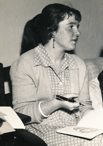 Bettina Heinen-Ayech at the Royal Art Academy in Copenhagen, 1958
