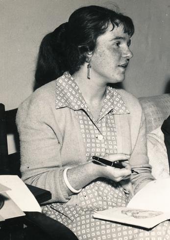 Bettina Heinen-Ayech auf der Königlichen Kunstakademie in Kopenhagen, 1958