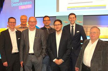 V.l.n.r.: Thorsten Baumgart, Michael Böwingloh, Hermann Ludewig, Johannes Elstner, Dirk Bursian, Patrick Büker, Eckhard Fuhrmann