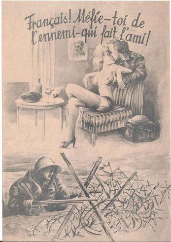 Tract allemand à destinations des troupes françaises protégeant la fuite des Anglais vers les ports. - Collection L. BOYER