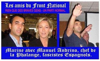 Marine Le Pen i samtale med en kendt spansk fascist