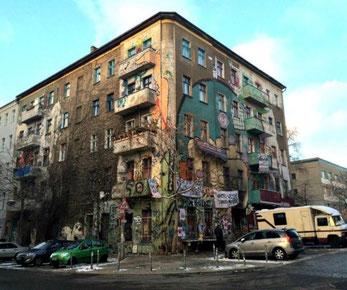 BZ'at hus i Rigaerstrasse 94 i Berlin Friedrichshain