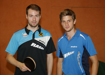 Martin Kinslechner und Philip Merz bestritten zusammen das Mannschaftsturnier in Mistelbach. Foto: TTSG Weinviertel