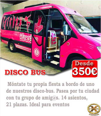 Alquiler de autobús discoteca para despedidas de solteras en Conil de la frontera