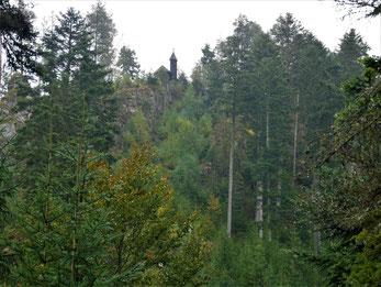Die Bergkapelle hoch über Lauterbach