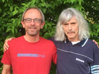 Spartenleiter Thomas Rieger (li.) und Vertreter Helmut Knabe