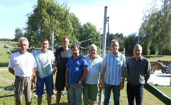 Von links: M. Helmker, H.J. Eggert, R. Hildebrandt, H. Oehlsen, D. Bokelmann, D. Hildebrandt, A. Lampe. Es fehlen: M. Pohlmann, I. Schillig Chr. Schmidt