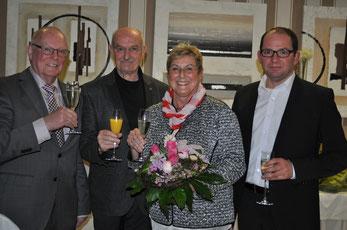 Vorstand des GHV Villingen v.l.: Werner Echle (Vorsitzender), Hasko Froese (Schatzmeister), Helga Echle (wiedergewählte Schriftführerin), Andreas Flöß (2. Vorsitzender) Foto:Claudia  Wildi