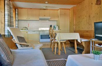 Wohnküche Ferienwohnung Heimetli Samnaun Laret