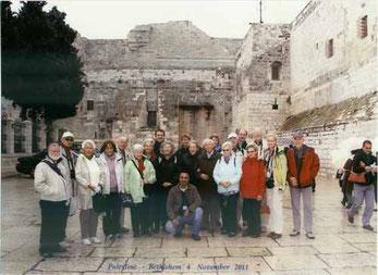 Die Gruppe in Bethlehem