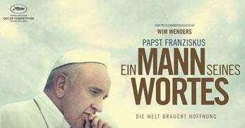 """Filmplakat """"Papst Franziskus - Ein Mann seines Wortes"""""""
