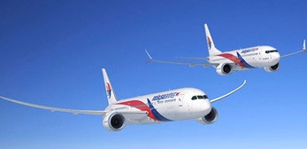 Artist's impression of 787 and 737 MAX in Malaysia Airlines' livery