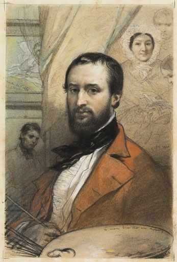 ------ LOUIS GALLAIT - ZELFPORTRET - 1843 ------ Art Institute of Chicago - William McCallin McKee Memorial Endowment  - Publiek domein -  1976.689