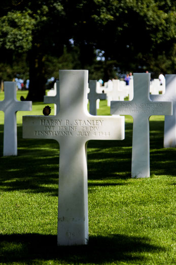 Normandie, D-Day: US-Soldatenfriedhof in Colleville-sur-Mer