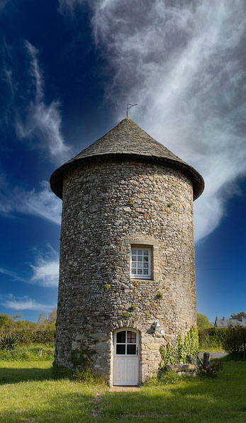 Eine ehemalige Mühle in der Normandie, heute ein Ferienhaus