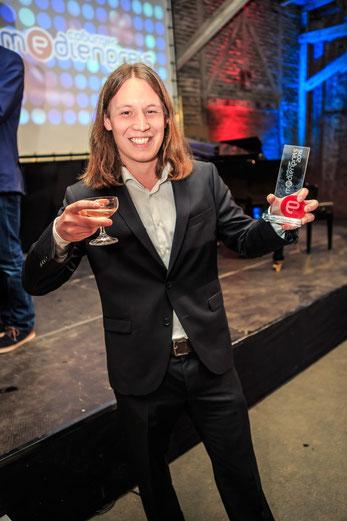 """Pirmin Styrnol und Christian Weiner erhalten den Coburger Medienpreis in der Kategorie """"Schöpfung national"""" für Momente des Sports"""