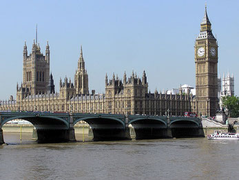 The Houses of Parliament, das britische Parlament. Bild: Wikimedia Commons