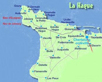 La Hague à l'ouest de Cherbourg