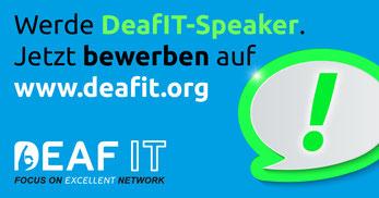 Werden Sie DeafIT Speaker auf der DeafIT Konferenz 2018 in München