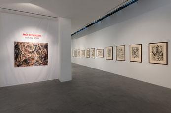"""Blick in die Ausstellung """"Max Beckmann auf der SPUR"""". Foto: Andreas Pauly."""