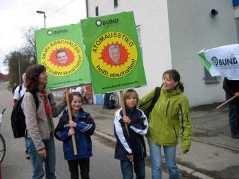 Teilnahme an Atomausstiegsdemo. Foto: NABU/BUND-Ortsgruppe Oberndorf/Sulz