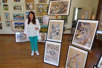 Jacqueline Gouby est la présidente de l'association Bochages Productions-Les peintres de la plaine.