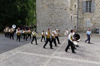 La Musique municipale de Dormans lors du 14 juillet 2019.