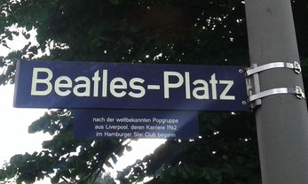 Strassenschild auf St. Pauli - Beatles Platz