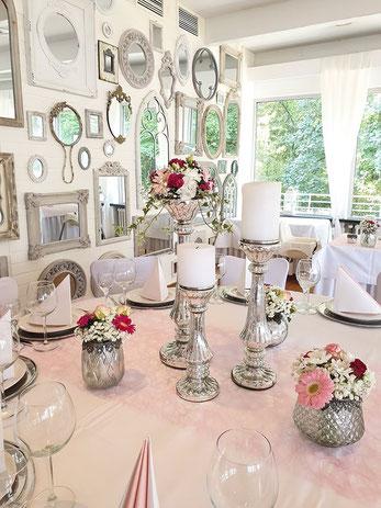 Traumhafte Dekoration für die Hochzeit