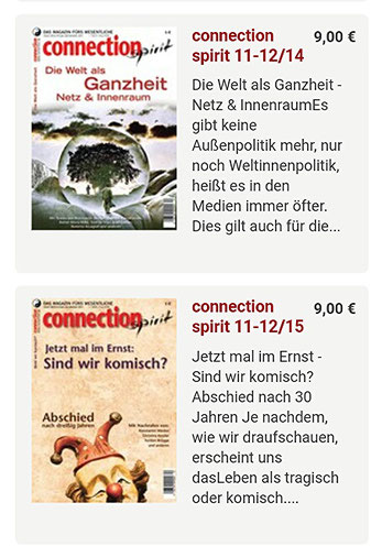 LDL+Nullyoga-Manifeste 2014-2015 im Magazin connection spirit