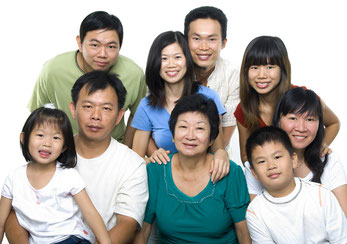 Mehrgenerationen Familie in China