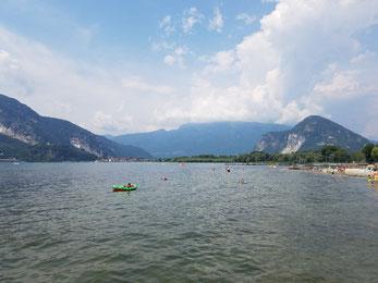 Lago Maggiore vor dem Gewitter am Nachmittag