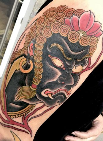Lars Wilczinski, Tattookünstler, Tattoo-Atelier Berlin, Japanese Tattoo, Japanische Tattoos, Japantattoo, Fudo, Fudo Myoo