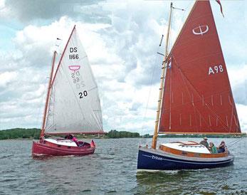 Catboote auf der Schlei: Ole und Triton zeigen sich von ihren besten Seiten