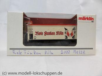 """MÄRKLIN 94072 """"Rote Funken Köln""""mit Bremserhaus Limitiertes Sondermodell"""