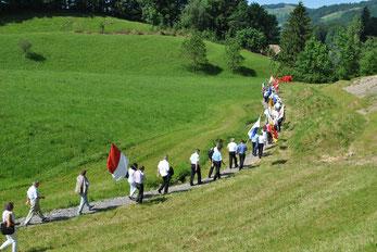 Auf dem Weg zum Schlachtfeld von Morgarten