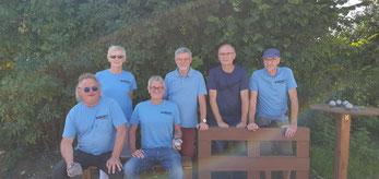 Klack3 (v.l.): Rainer H., Rita, Ralf, Alexander, Heino, Wolfgang R.