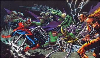 Angriffe der Sinister Six haben immer einen Hauch von Kindergeburtstag.