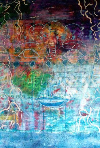 INNOCENCE, 2019, Alexandra Benesch, 70x100 cm, acrylic on canvas
