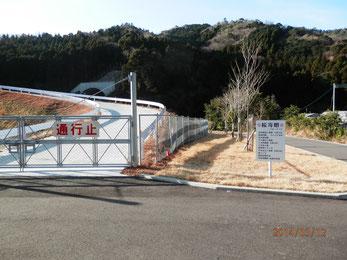 工事中の建物の正面に植えられた桜。東九州道の施工業者さんの寄贈。クリックで拡大。(拡大したのを拡大できます(^_^;V)